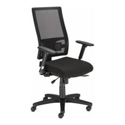 Krzesło TAKTIK oparcie czarne, siedzisko granat EF-010