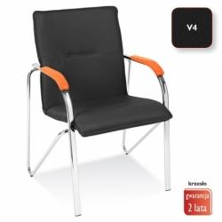 Krzesło konferencyjne Samba czarne, V-4
