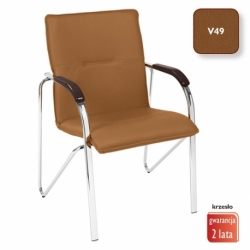 Krzesło konferencyjne Samba brąz, V-49
