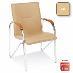 Krzesło konferencyjne Samba beżowa, V-46