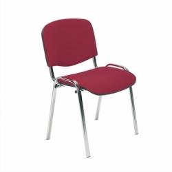 Krzesło konferencyjne ISO Chrome splot brązowy CU-24