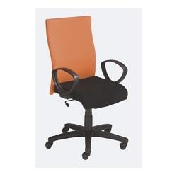 Krzesło Leon welurowe siedzisko czarne, oparcie pomarańczowe M15/M04
