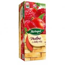 Herbata Herbapol owocowa malina z dziką różą 20 szt