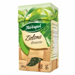 Herbata Herbapol zielona liściasta 100g