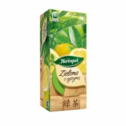 Herbata Herbapol zielona o smaku cytryny 20 szt