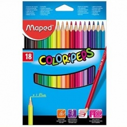 Kredki oナづウwkowe MAPED COLORPEPS 18 kolorテウw