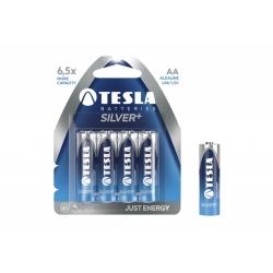 Baterie alkaliczne TESLA SILVER+ AA LR06 - 4 szt.