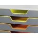 VARICOLOR 10, pojemnik z dziesiト冂ioma kolorowymi szufladkami. Wymiary: 280x292x356 mm (WxSxG)