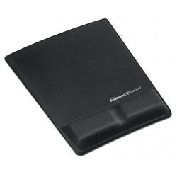 Podkładka pod mysz i nadgarstek Health-V Fabric Czarna