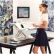 Biurko / stanowisko do pracy stojąco-siedzącej Fellowes Lotus