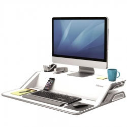 Biurko / stanowisko do pracy stojąco-siedzącej Fellowes Lotus - białe