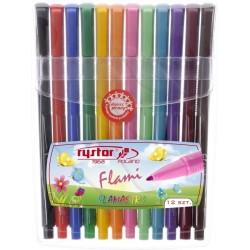 Flamastry Rystor Flami Etui, 12 kolorów