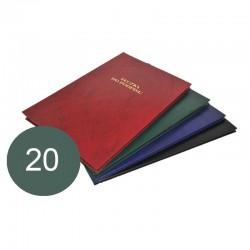 Teczka do podpisu Barbara A4 20 przekładek zielony