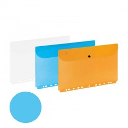 Teczka kopertowa z europerforacją A4 Grand niebieski