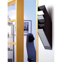 Pojemnik na dokumenty na ścianę Flexiboxx 6 A4 czarny