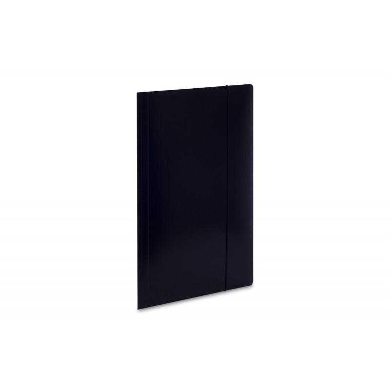 Teczka lakierowana A4 z gumkト� VauPe Soft czarny