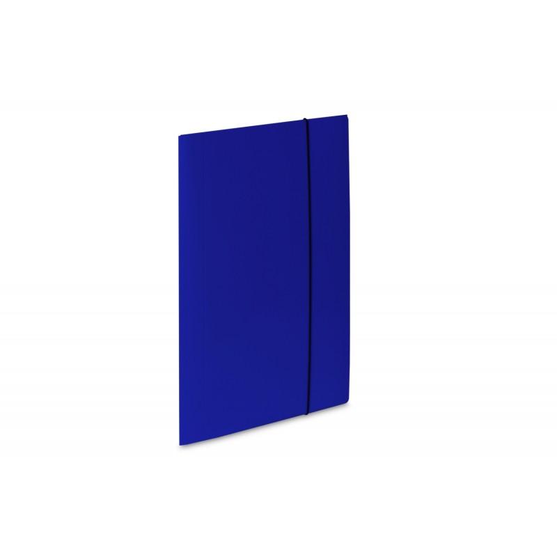 Teczka lakierowana A4 z gumkト� VauPe Soft niebieski