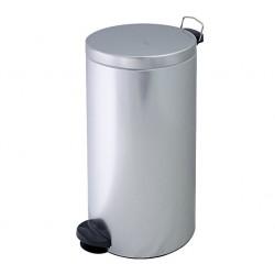 Kosz na śmieci z pedałem, stalowy, 30 litrów