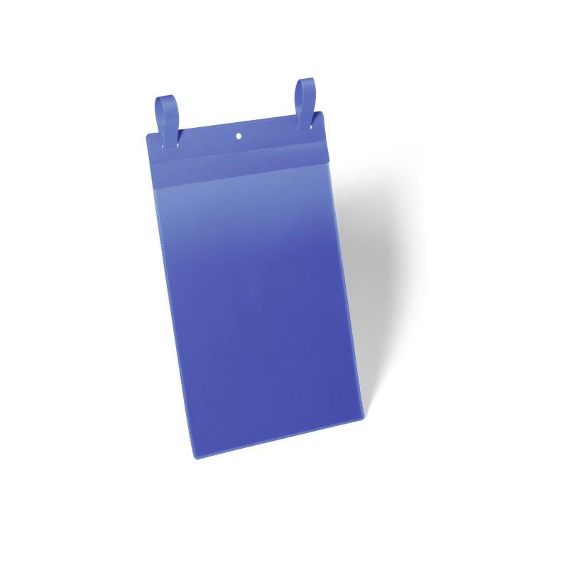 Kieszenie magazynowe Durable z paskami montażowymi A4 pionowe, opak.50 szt