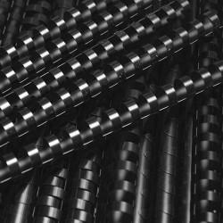 Grzbiety do bindowania plastikowe 6mm, 100 szt. czarny