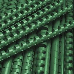 Grzbiety do bindowania plastikowe 10mm, 100 szt. zielony