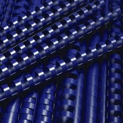 Grzbiety do bindowania plastikowe 16mm, 100 szt. niebieski