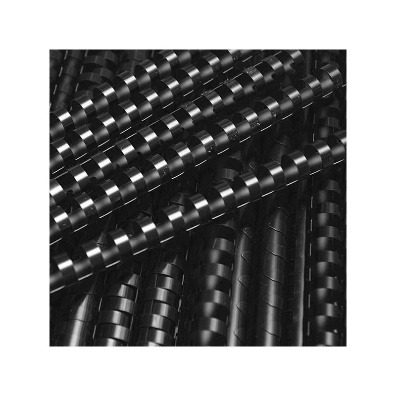 Grzbiety do bindowania plastikowe 19mm, 100 szt. czarny
