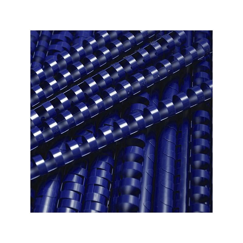 Grzbiety do bindowania plastikowe 19mm, 100 szt. niebieski
