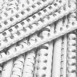 Grzbiety do bindowania plastikowe 19mm, 100 szt. biały