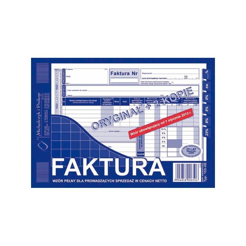 Faktura VAT dla prowadzト�cych sprzedaナシ w cenach netto