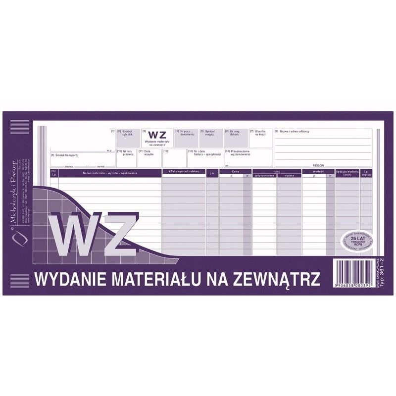 WZ Wydanie materiaナV na zewnト�trz 1/3 A3