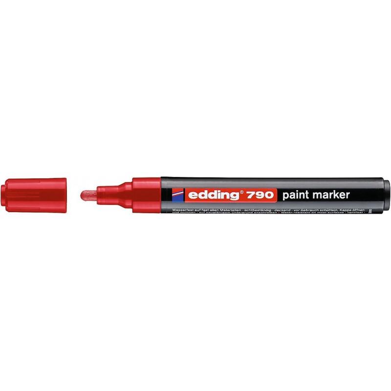 Marker EDDING 790 lakierowy z koナ�cテウwkト� 2-3mm czerwony