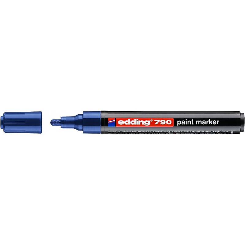 Marker EDDING 790 lakierowy z końcówką 2-3mm niebieski