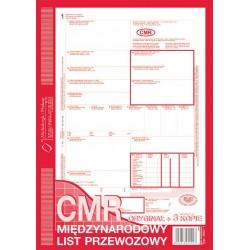 CMR Międzynarodowy list przewozowy A4 O+3K