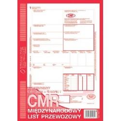 CMR Międzynarodowy list przewozowy A4 O+4K