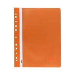 Skoroszyt miękki A4 z perforacją Bantex pomarańczowy