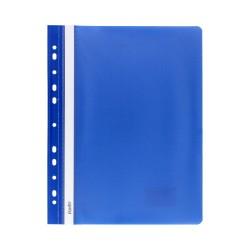 Skoroszyt miękki A4 z perforacją Bantex niebieski