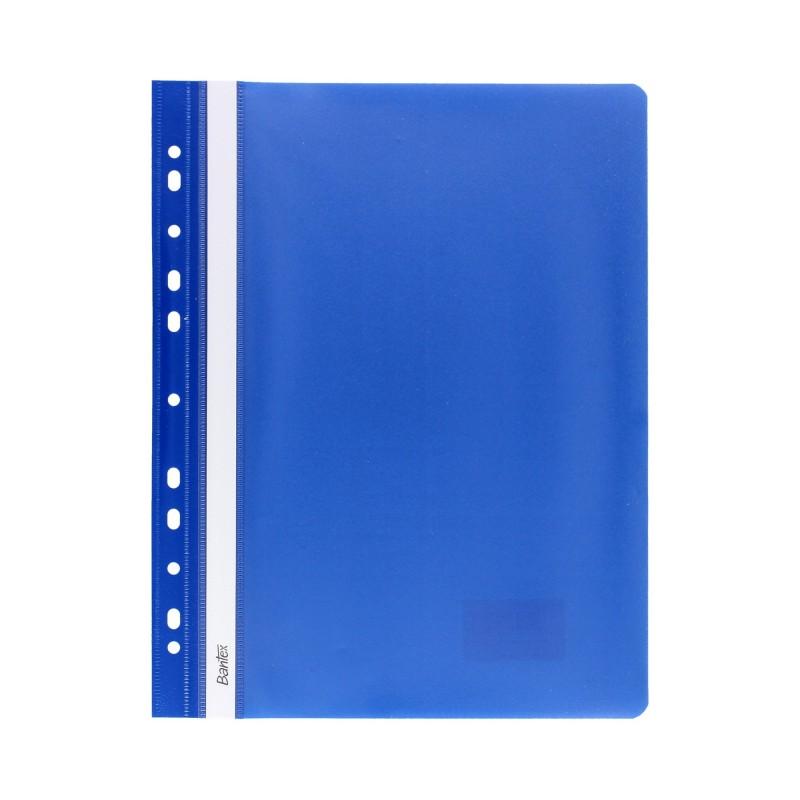 Skoroszyt miト冖ki A4 z perforacjト� Bantex niebieski