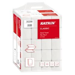 Katrin Classic ZZ ręczniki papierowe składane białe - handy pack
