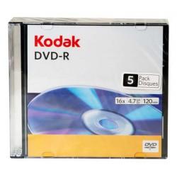 PŁYTA DVD-R KODAK 4,7GB 16X SLIM 5SZT.