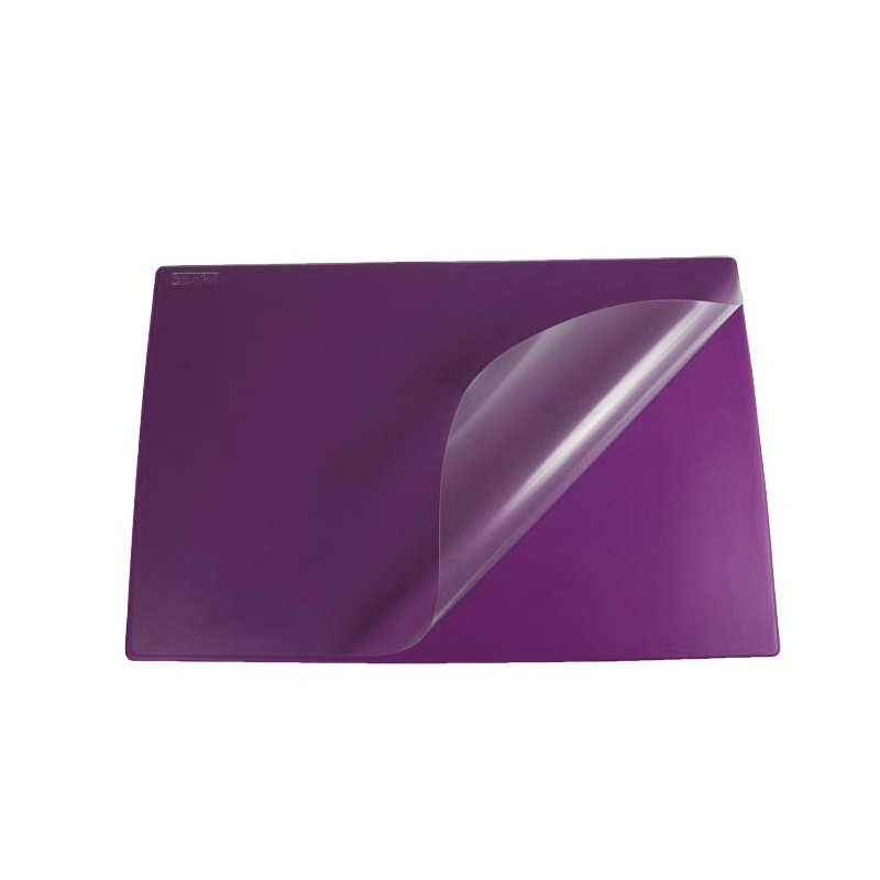 PodkナBd na biurko Biurfol z foliト� fioletowy, 580x380mm