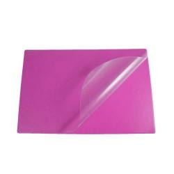 Podkład na biurko Biurfol z folią różowy, 580x380mm
