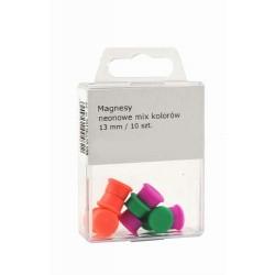 Magnesy Colorplus 13mm 10 szt mix kolorów neonowych