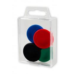 Magnesy Colorplus 32mm 4 szt mix kolorów