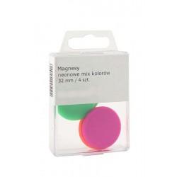 Magnesy Colorplus 32mm 4 szt mix kolorów neonowych
