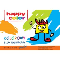 Blok rysunkowy A3 Happy Color kolorowy 15k