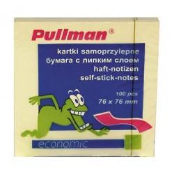 Karteczki samoprzylepne Pullman 75x75mm żółte