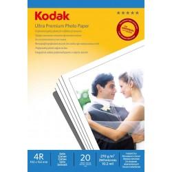 Papier foto Kodak 4R 270g 20 arkuszy matowy satynowany