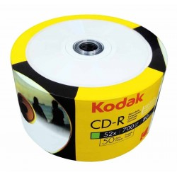 Płyta CD-R Kodak 700mb 52x - 50 szt spindle printable do nadruku