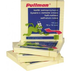 Karteczki samoprzylepne Pullman 75x75mm żółte - 5 sztuk